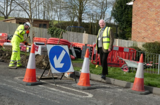 Work on Icknield Way Crossing