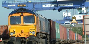 Freight Train at Felixstowe