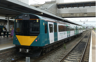 Class230 waits at Bletchley