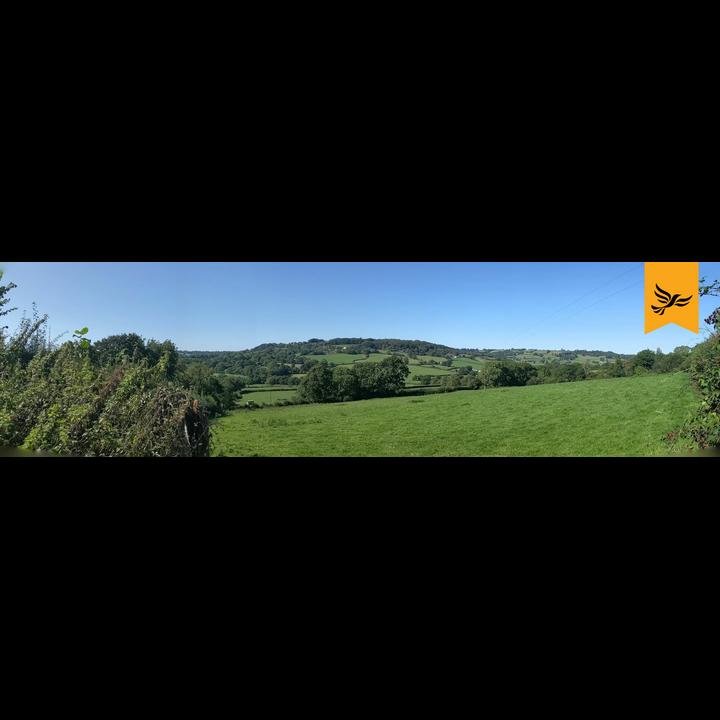 Blackdown Hills AONB near Upottery