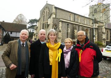 Sally Symington with Campaign Team Berkhamsted