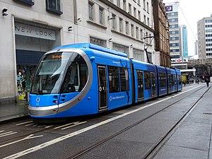 Urbos Tram in Birmingham