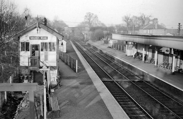 Bricket Wood Station showing the Passing Loop (Ben Brooksbank and Wikipedia)
